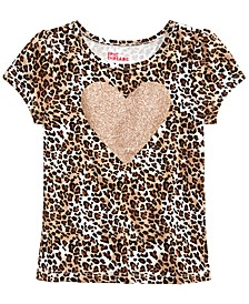Little Girls Leopard-Print Heart T-Shirt, Created for Macy's