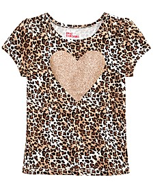 Epic Threads Toddler Girls Cheetah-Print Heart T-Shirt, Created for Macy's