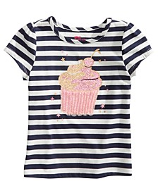 Toddler Girls Striped Cupcake T-Shirt, Created for Macy's