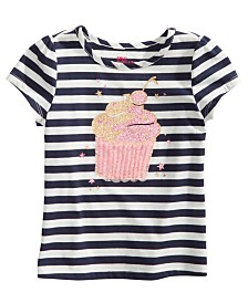 Epic Threads Little Girls Striped Cupcake T-Shirt, Created for Macy's