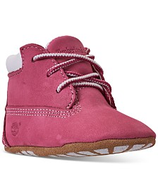 Timberland Baby Girls Classic Crib Booties from Finish Line