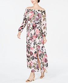 INC Off-The-Shoulder Floral Maxi Dress, Created for Macy's