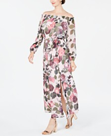 I.N.C. Off-The-Shoulder Floral Maxi Dress, Created for Macy's
