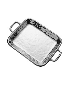 Wilton Armetale River Rock Large Rectangle Tray with Handles