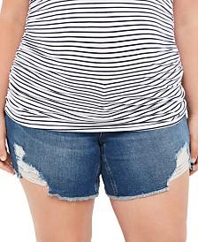 Motherhood Maternity Plus Size Denim Shorts