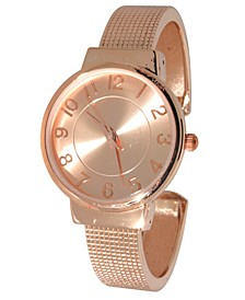 Women's Simply Textured Bangle Bracelet Watch 38mm