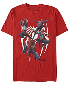 Men's Spider-Man Many Poses Of Spider-Man Short Sleeve T-Shirt