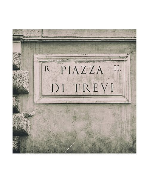 "Trademark Global Philippe Hugonnard Dolce Vita Rome 3 Piazza Di Trevi III Canvas Art - 19.5"" x 26"""