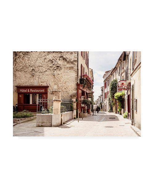 "Trademark Global Philippe Hugonnard France Provence Old Provencal Street II Uzes Canvas Art - 19.5"" x 26"""
