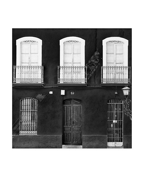 """Trademark Global Philippe Hugonnard Made in Spain 3 Facade of Traditional Spanish Building Canvas Art - 15.5"""" x 21"""""""
