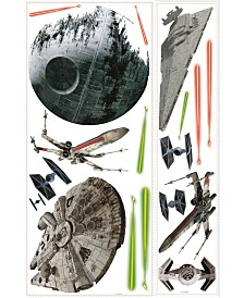York Wallcoverings Star Wars Classic Space Ships Pands Giant Wall Decals