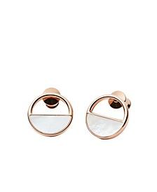 Women's Elin Stainless Steel Mother of Pearl Stud Earrings