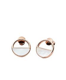 Skagen Women's Elin Stainless Steel Mother of Pearl Stud Earrings