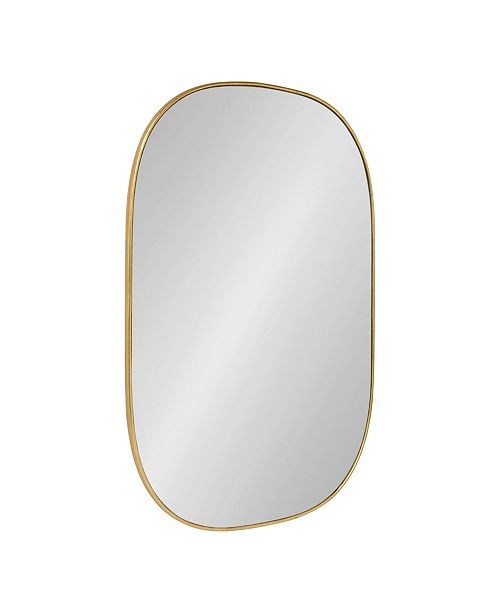 """Kate and Laurel Caskill Rounded Rectangle Gold Leaf Wall Mirror - 24"""" x 36"""""""