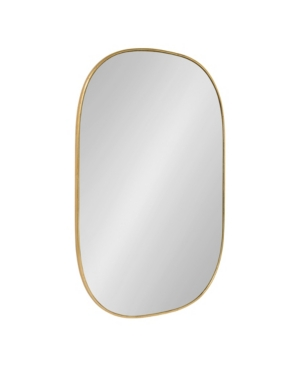 Kate and Laurel Caskill Rounded Rectangle Gold Leaf Wall Mirror - 24