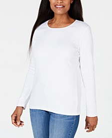Satin-Trim Scoop-Neck Top, Created for Macy's