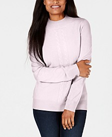 Petite Cable-Knit Crewneck Sweater, Created for Macy's