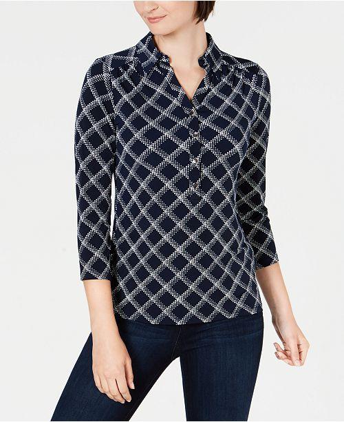 Charter Club Plaid Polo Shirt, Created for Macy's