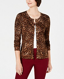 Animal-Print Cardigan, Created for Macy's