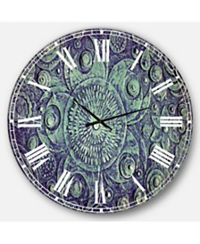 Designart Digital Art Oversized Round Metal Wall Clock