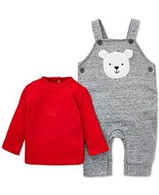 Baby Boys 2-Pc. T-Shirt & Bear Overalls Set
