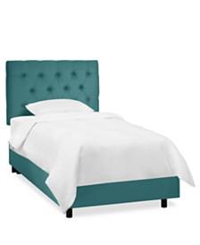 Addison Kids Full Diamond Tufted Bed, Quick Ship