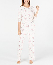Super Soft Textured Fleece Pajamas, Created For Macy's