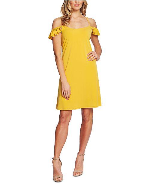 CeCe Cold-Shoulder Mini Dress