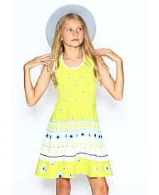 Lanoosh Little Girls Fit and Flare Skater Dress
