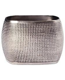Textured Square Napkin Ring, Set of 6