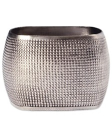 Textured Square Napkin Ring, Set of 6