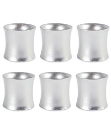 Curved Painted Acrylic Napkin Ring, Set of 6