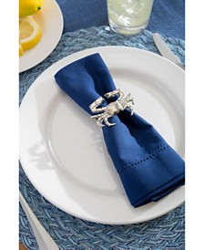 Coastal Crab Napkin Ring, Set of 12