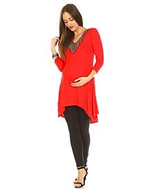Maternity Sofia Embellished Tunic Top