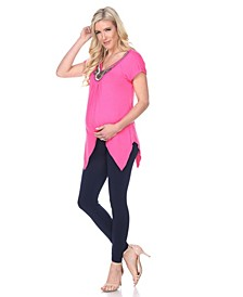 Maternity Myla Embellished Tunic Top