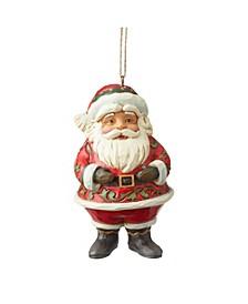 Jim Shore Mini Jolly Santa Holiday Ornament