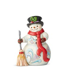 Jim Shore Snowman w/Top Hat and Scarf