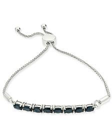 Sapphire Bolo Bracelet (3-1/5 ct. t.w.) in Sterling Silver