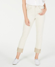 OAT Cuffed Straight-Leg Jeans