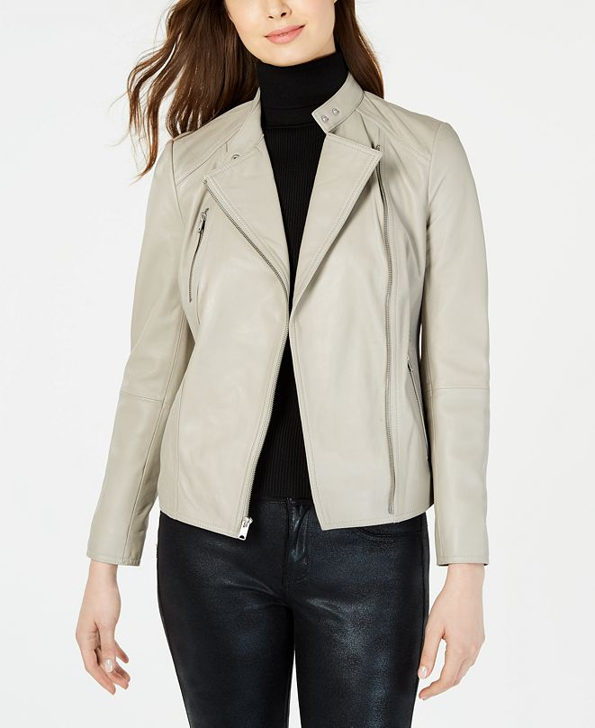 Marc New York Asymmetrical Leather Moto Jacket