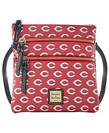 Cincinnati Reds North South Triple Zip Purse