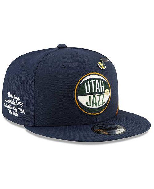 New Era Big Boys Utah Jazz 2019 On-Court Collection 9FIFTY Snapback Cap