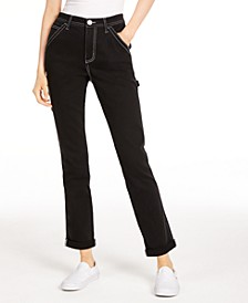 Contrast-Stitch Cotton Jeans