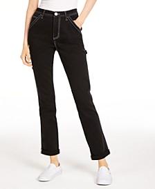 Contrast-Stitch Cotton Jeans