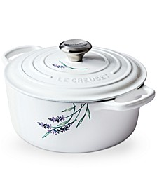 4.5-Qt. Round Dutch Oven with Lavender Appliqué