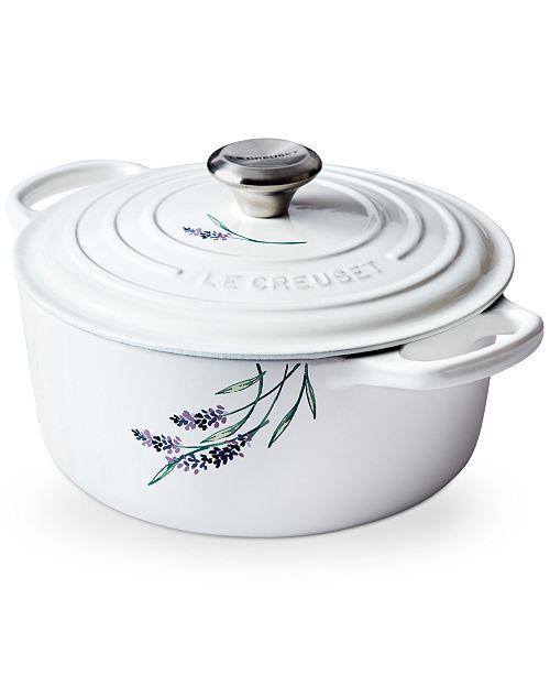 Le Creuset 4.5-Qt. Round Dutch Oven with Lavender Appliqué