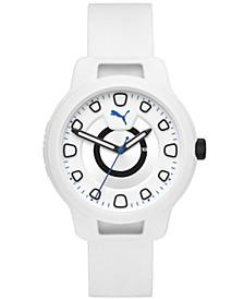 Men's Reset Silicone Strap Watch 44mm