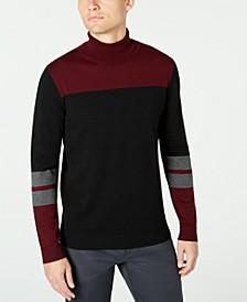 Men's Blocked Turtleneck Sweater, Created for Macy's
