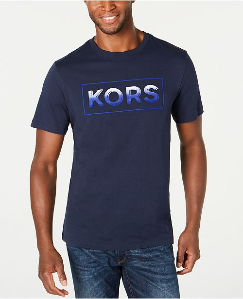 Michael Kors Men's Ombre Logo Graphic T-Shirt, Created for Macy's