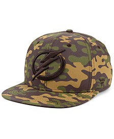 Authentic NHL Headwear Tampa Bay Lightning Woodland Camo Snapback Cap